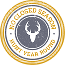 No Closed Season - Hunt Year Round